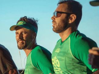 Bruno Gagliasso e Chico Salgado na Meia Maratona do Rio de 2018
