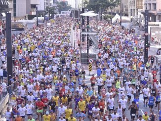 Corredores da São Silvestre na Avenida Paulista. Edição de 2020 pode ser cancelada. (Divulgação)