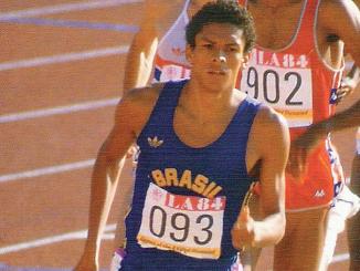 Joaquim Cruz nas Olimpíades de Los Angeles-1984. (CBAt)