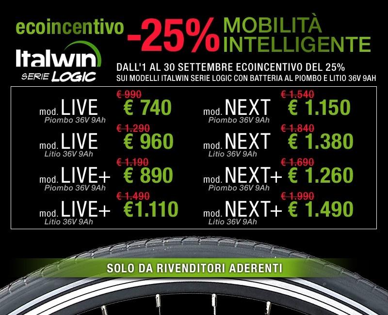 ecoincentivo italwin bici elettrica