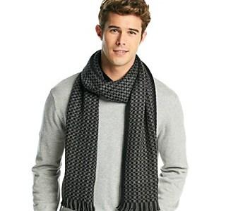 Calvin Klein Men's Checkered Muffler Scarf