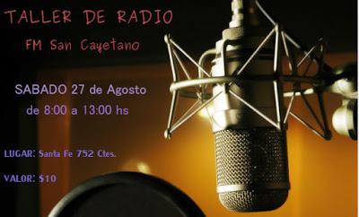 Taller de radio FM San Cayetano