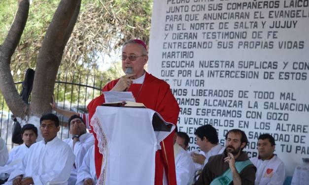 """Homilía de Mons Stanovnik en la Misa de la conmemoración de los """"Mártires del Zenta"""""""