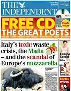 Il «caso-bufala» sulla prima pagina di «The Indipendent»