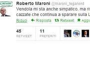 Il «Tweet» di Maroni