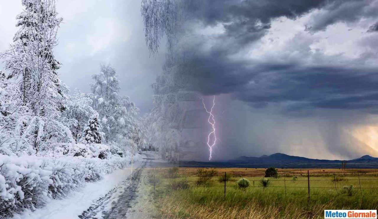 Temporali e neve a quote basse nel corso del weekend