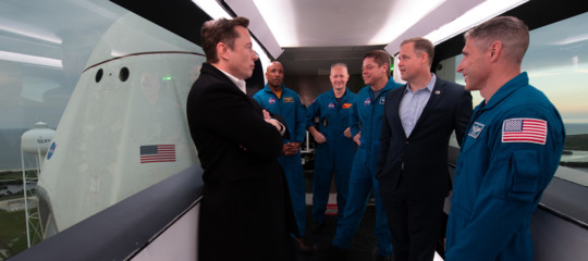 crew dragon iss space x musk