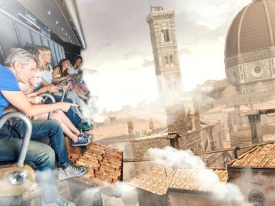 In volo con Leonardo a Cinecittà World