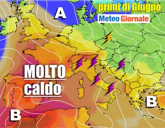 immagine 1 articolo meteo 15 giorni caldo africano e temporali