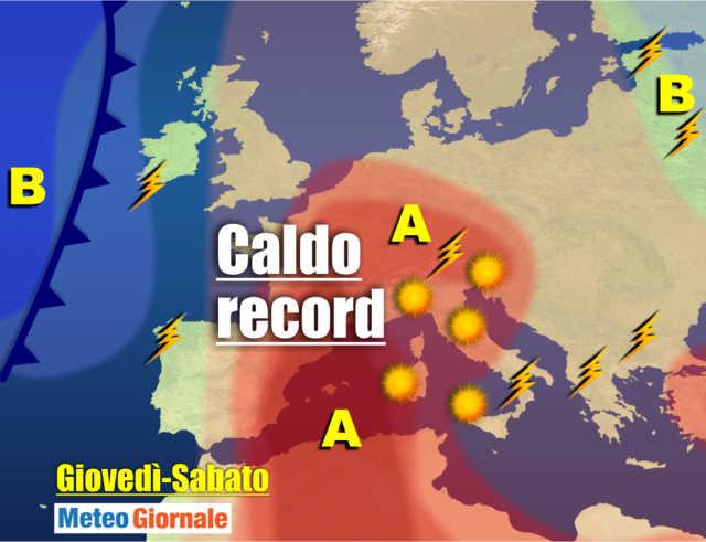 immagine 1 articolo meteo 7 giorni caldo ai massimi oltre 40 gradi al nord