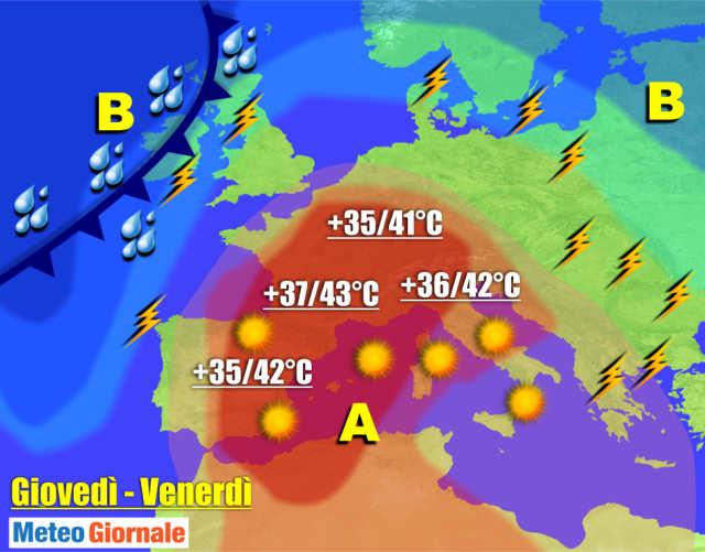 immagine 1 articolo meteo 7 giorni ondata di caldo punte record