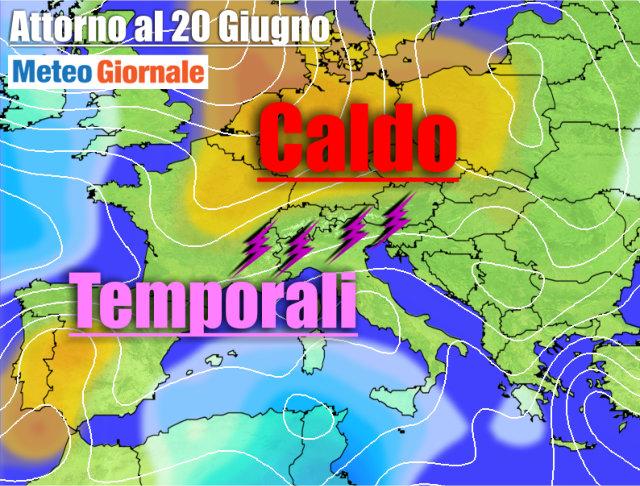 immagine 1 articolo meteo al 22 giugno caldo africano temporali al nord