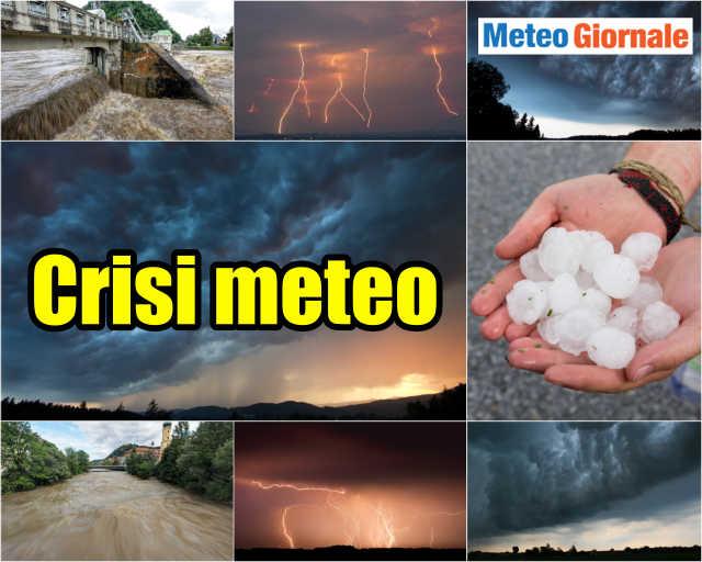 immagine 1 articolo meteo avverso nel finire di settimana temporali grandine