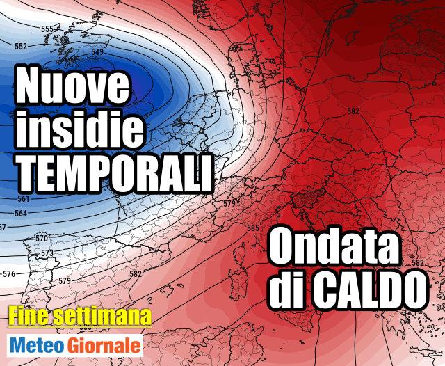 immagine 1 articolo meteo europa caldo notevole