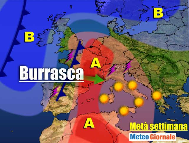 immagine 1 articolo meteo 7 giorni caldo africano poi burrasca