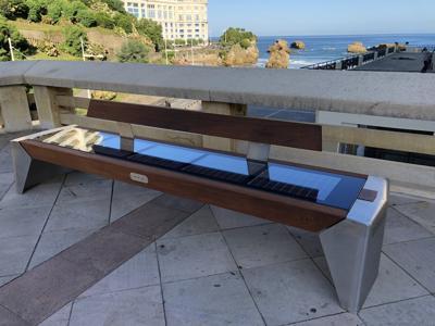 Biarritz, arrivano le panchine solari (ma non sedetevi troppo)