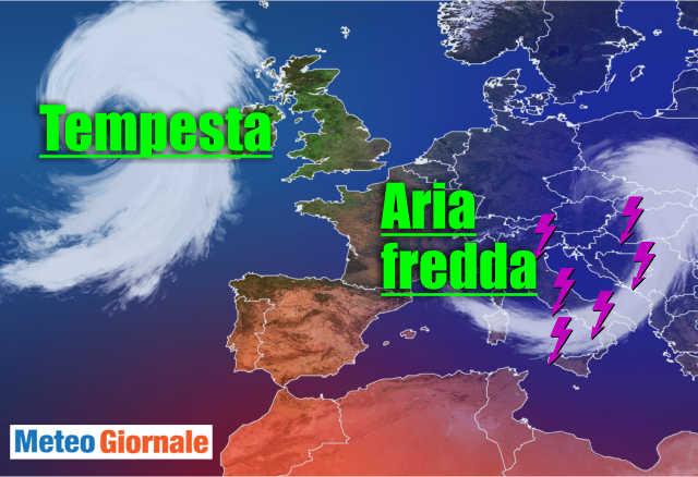 immagine 1 articolo meteo con temperatura in forte diminuzione con burrasca