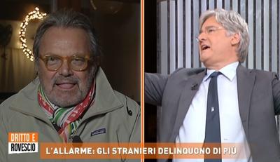 Toscani-Del Debbio, scintille in tv