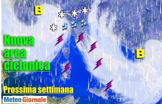 immagine 1 articolo meteo prossima settimana aree cicloniche a ripetizione