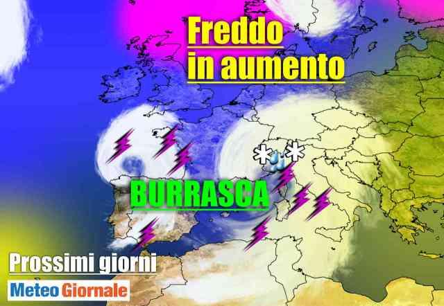immagine 1 articolo meteo sino a natale maltempo e venti di burrasca poi freddo
