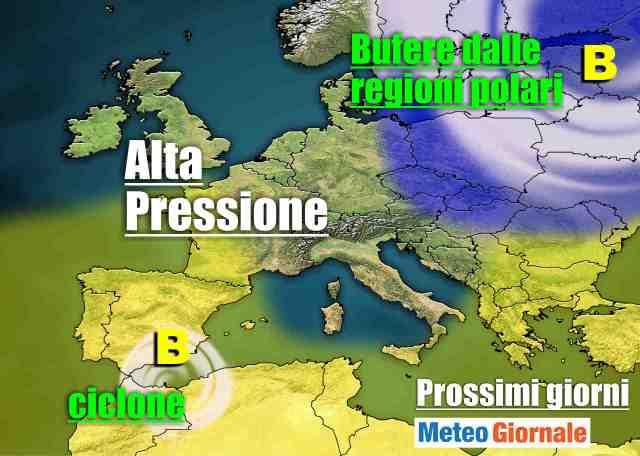 immagine 1 articolo meteo 7 giorni avvio settimana invernale poi anticiclone schiacciasassi