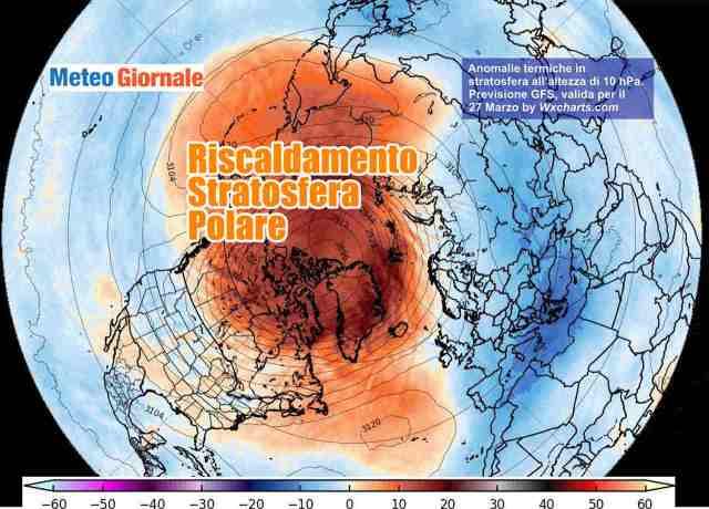 immagine 1 articolo meteo aprile crollo vortice polare conseguenze in vista