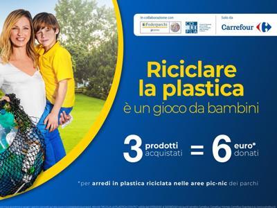 'Riciclare la plastica è un gioco da bambini', campagna per i Parchi