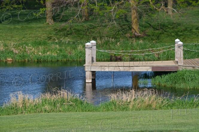 Springtime in southeastern Nebraska: pier at a local pond