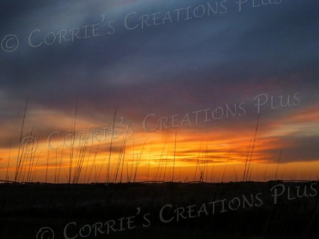 A sunset on the prairie in southeastern Nebraska