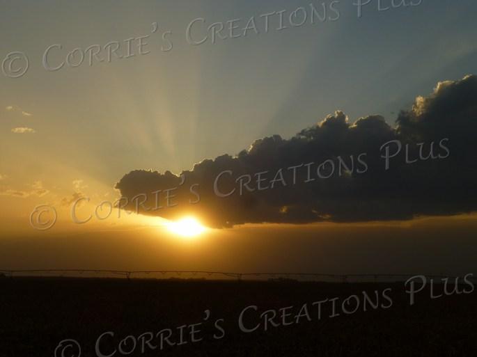 Rays of sunlight are shown in this Nebraska sunset.