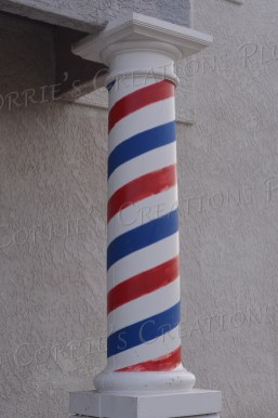Barbershop pole at an abandoned shop in Tucson