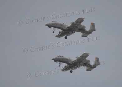 Two A10s about to land in Tucson