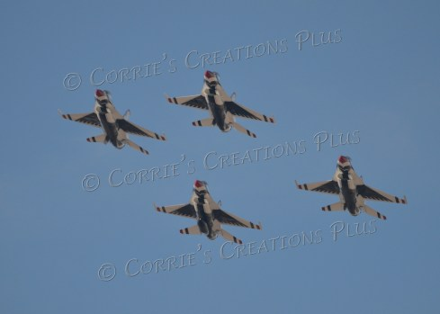 Four Thunderbirds soaring over Tucson