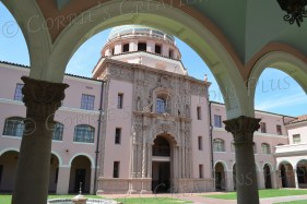 Under the arch: Old county courthouse in downtown Tucson