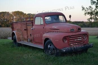Old Ford fire truck; photo taken in southeastern Nebraska