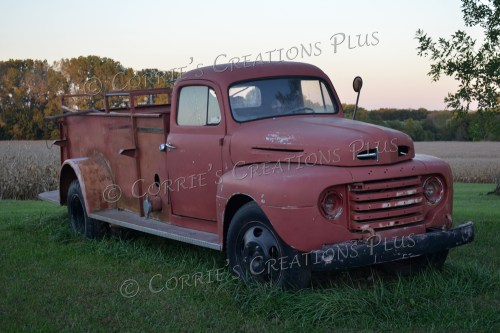 Old Ford fire truck; photo taken in southeastern Nebraska