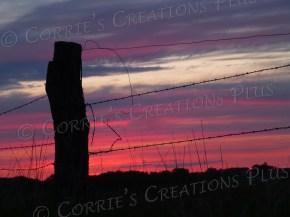 Fencepost sunset in southeastern Nebraska