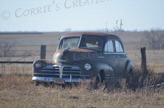 Old and abandoned car in southeastern Nebraska