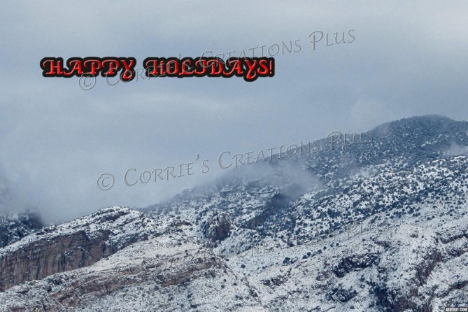 Snow in the Catalina Mountains makes for a cozy holiday.