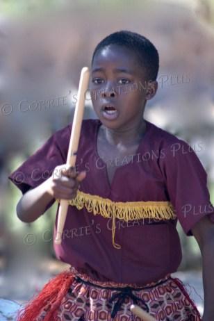 Little Drummer Boy? A young Ugandan dancer and drummer