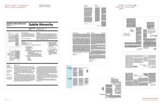Graphic Design One: Pt. 2 Subtle Heirarchy