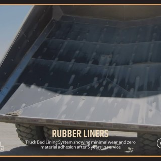Truck Bed Lining System showing minimal wear and zero material adhesion after 5 years in service