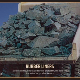 Corrosion Haul Truck Bed Liners protect trucks from the impact of large, abrasive ore