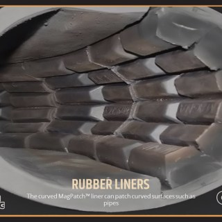 The curved MagPatch™ liner can patch curved surfaces such as pipes