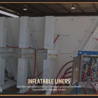 Ore Bin manufactured by Corrosion and installed with DynaVibe™ Inflatable Liners