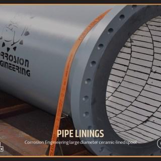 Corrosion Engineering large diameter ceramic-lined spool
