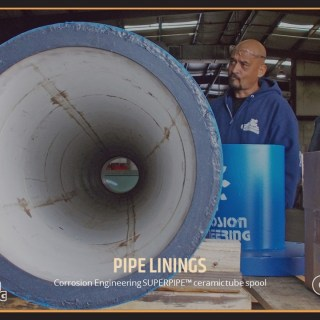 Corrosion Engineering SUPERPIPE™ ceramic tube spool