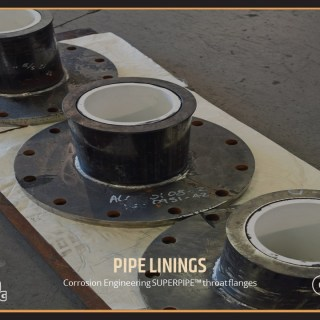 Corrosion Engineering SUPERPIPE™ throat flanges