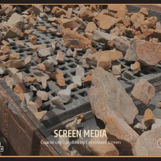 Coarse ore handled by CorroSteel screen