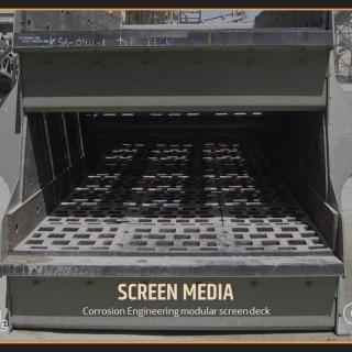 Corrosion Engineering modular screen deck